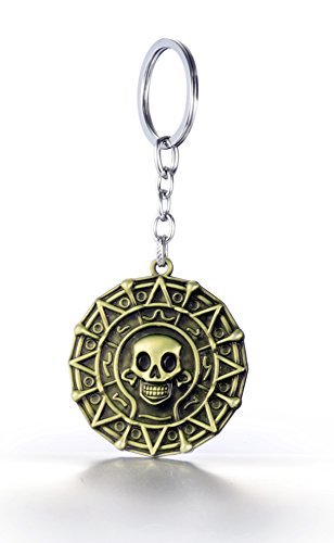 [REINDEAR Pirates Of The Caribbean Movies Cursed Aztec Cortez Coin Pendant Keychain US Seller] (Pirate Clothing And Accessories)