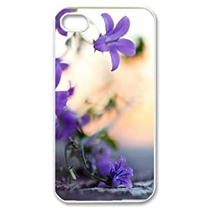 Small Violet Flowers IPhone 4/4s Cases, Iphone 4 Case Cheap Cheap Cute Vinceryshop - White