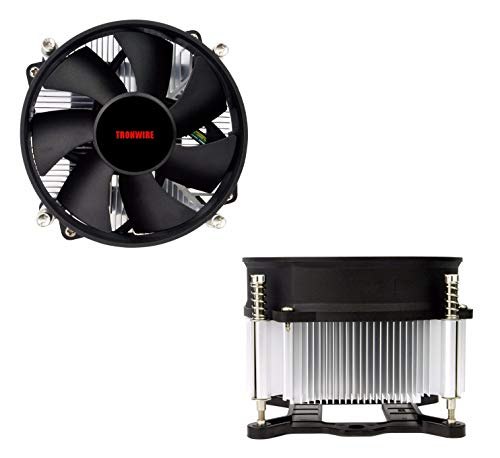TRONWIRE TW-3 Premium Intel Core i3 / i5 / i7 Socket 1156/1155 / 1151/1150 4-Pin Connector CPU Cooler With Aluminum Heatsink & 3.62-Inch Fan With Pre-Applied Thermal Paste by TronStore