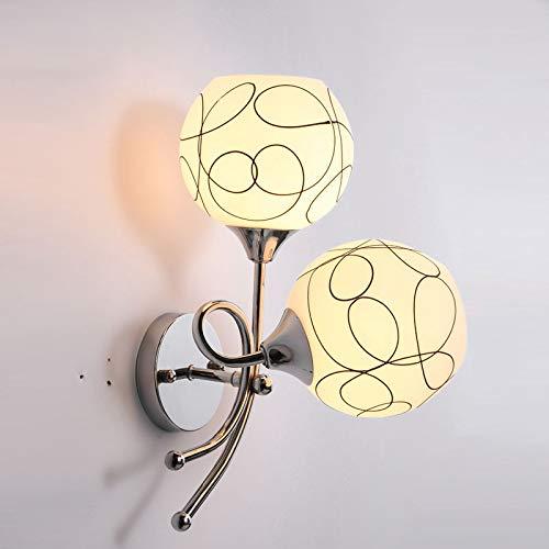Moderne minimalistische LED Wandlampe Schlafzimmer Nachttischlampe Balkon Treppenhaus Gang Doppelkopf Hotel Mode Wohnzimmer Wandlampe, BD02-6