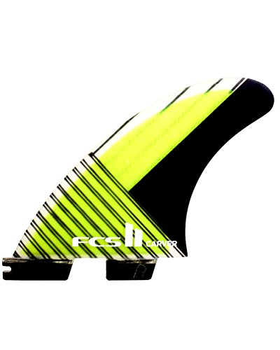 FCS II Carver Performance Carbon Tri Fin Set - Green - Medium