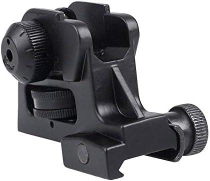 Fixed Rear Iron Tactical Sight Picatinny Black