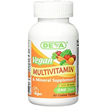 DEVA Vegan Vitamins Multivitamin Once Daily Iron Free Tabs, 90 ct