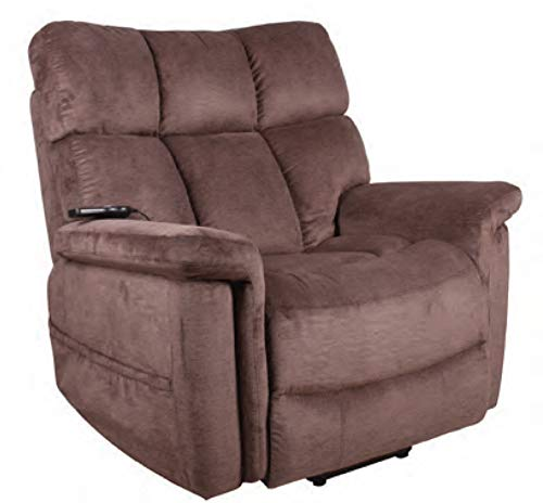 Serta Horizon 652 Big Man Perfect Comfort 3 Position Lift Chair Power Recliner 500 lb Capacity - Polo Club Java Fabric