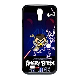 Samsung Galaxy s4 9500 Black Cell Phone Case HUBYLW0583 Angry Birds Starwars Design Custom Phone Case Cover