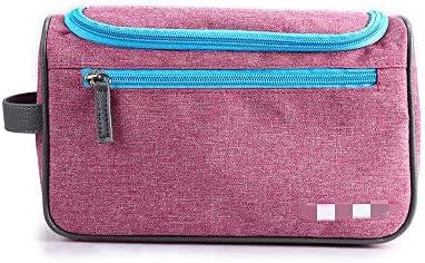 化粧品袋 女の子の気質の女性のためのコードサイズ化粧洗面化粧台ケースポーチ洗浄バッグジッパー収納袋の主催 旅行化粧収納ボックス (Color : Red)