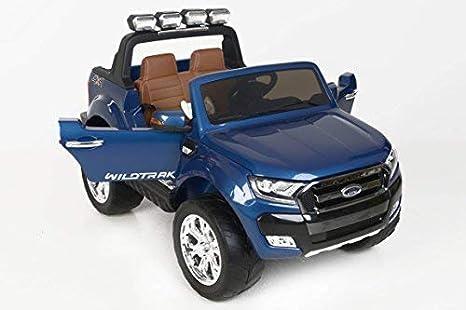 Ford Ranger Wildtrak 4X4 LCD Luxury, Coche eléctrico para niños, 2.4Ghz, Pantalla LCD, Azul pintado, 2x12V, 4 X MOTOR, mando a distancia, dos ...
