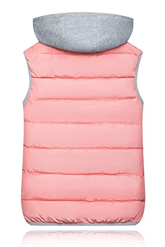Chaleco Caliente Mujer Para Invierno Rosa Mangas Chaquetas Bozevon Sin Chalecos wSqgEE5P