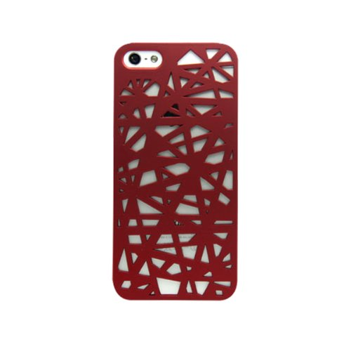 Sudmand High Quality Hollow-out plastics Case for Iphone 4/4s, Juice Case for Iphone 4/4s. (Red)