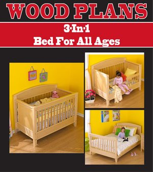 3 In 1 Bed Woodworking Paper Plan Pw10057 Baby Furniture