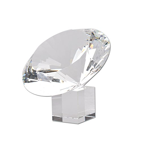 - LONGWIN 200mm(8 inch) Big Crystal Diamond Paperweight Wedding Centerpiece