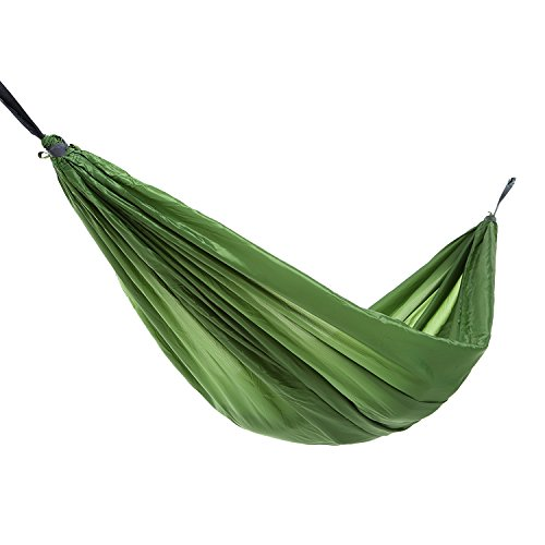 WEANAS Extra Large Double Hammock Ultralight, Lightweight Portable Parachute Nylon Double Deluxe Outdoor Indoor Camping Hammock (Extra Single Purple&Brown)