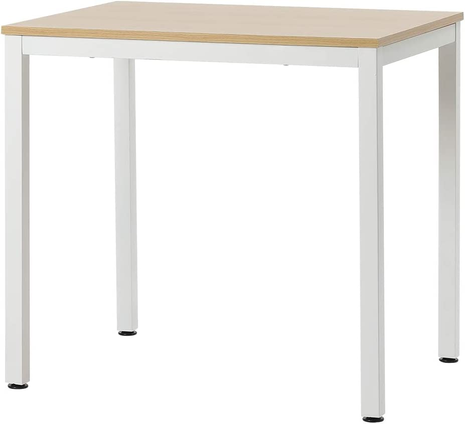 """Roomnhome Bistro Table/Bar Table, 31.5""""/47'' Dining, Solid Metal Frame, Sturdy Table/Bar Table with MDF Top with 29.5"""" / 33'' Height (Indoor Use Recommended) (Table/Oak White): Kitchen & Dining"""