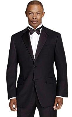 Calvin Klein Men's Black Slim Fit Tuxedo