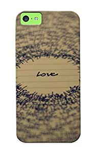 Storydnrmue Anti-scratch And Shatterproof Love Hate Phone Case For Iphone 5c/ High Quality Tpu Case