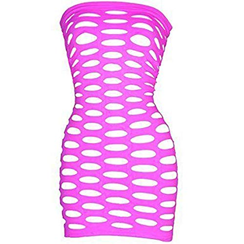 LoveFifi Women's Light Neon Queen Tube Dress,Pink one Size