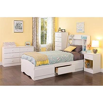 Amazon.com: Prepac Astrid 5 Piece Twin Platform Bedroom Set ...