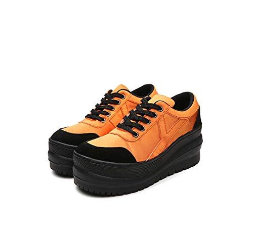 DANDANJIE Zapatos De La Mujer Otoño Comodidad Oxfords Cuñas Talón Zapatos De Pie Redondos Zapatos Deportivos a