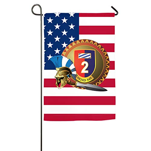 1st Armored Brigade Combat Team,3rd Infantry Division Yard Flag Patio Garden Flags Outdoor Banner 12x18 Inches