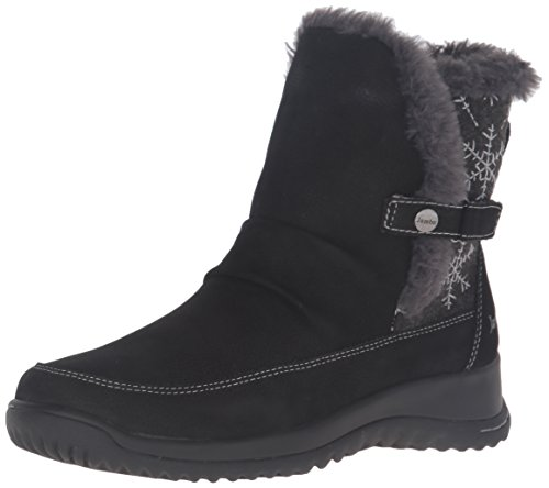 Jambu Women's Sycamore Snow Boot, Black, 8 M US (Womens Casual Winter Boots)