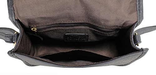 Laser Bag H1965 Scarleton Cut Pattern Black Crossbody Flap qwwvCXd