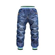 KKRABBIT Kids Jeans Boys Jeans Straight Fit Double Layer Skinny Denim Jeans 1618