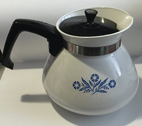 Cornflower Blue 6 Cup Stove Top Tea Pot