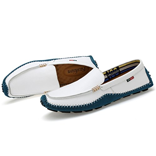 Driving Slip On amp; Spring Mocassini Scarpe Un da New Loafers Shoes in Shoes Fall Casual Flat 2018 Moda Uomo Pelle qccXAt