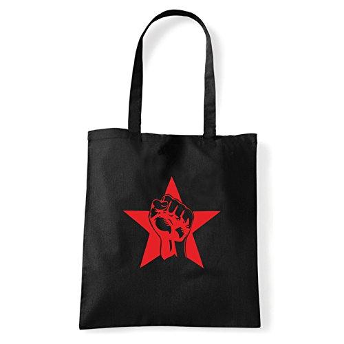 Porter Sac À shirt bag Pugno Art Femme rosso T Pour Noir L'épaule 61Ogfwxzq
