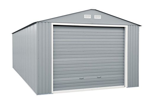 Duramax Imperial Metal Garage Building Kit (12' x 32') Heavy-Duty Galvanized Steel Construction | Wide, Roll-Up Front Door | Store a Car, Boat, Gear, Garden Utility Tools