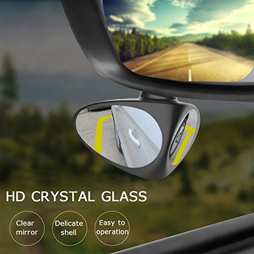 ouying1418 Car Blind Spot Mirror Wide Angle Mirror 360 Rotation Convex Rear View Mirror