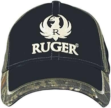 RUGER Men's Camo Trim Adjustable Fit Hat Black