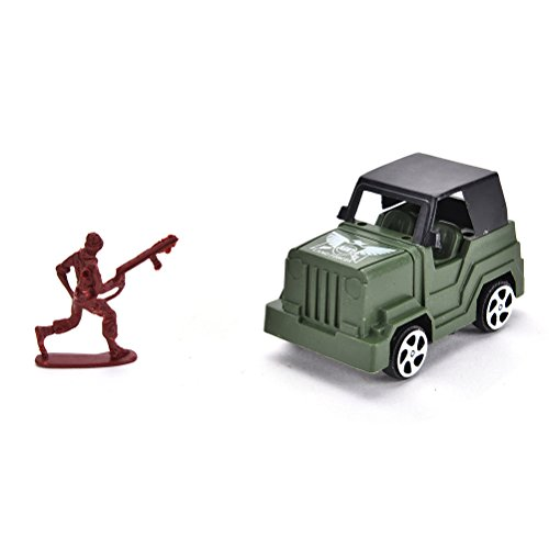 Ensunpal 307 Pcs/Set Army Soldier Toy Kits, World War II Soldiers Toy Set with Hand Bag Plastic Solider Figures Grenade Tank Aircraft Rocket Army Men Sand Scene Model by Ensunpal (Image #8)