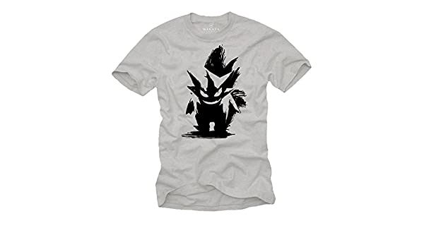 7f484ff2 Amazon.com: Vintage Gaming T-Shirt - Gengar T-Shirt - Gifts for Geeks and  Nerds: Clothing