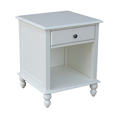 International Concepts OT07-20E Cottage End Table, Beach White (End Table Group)