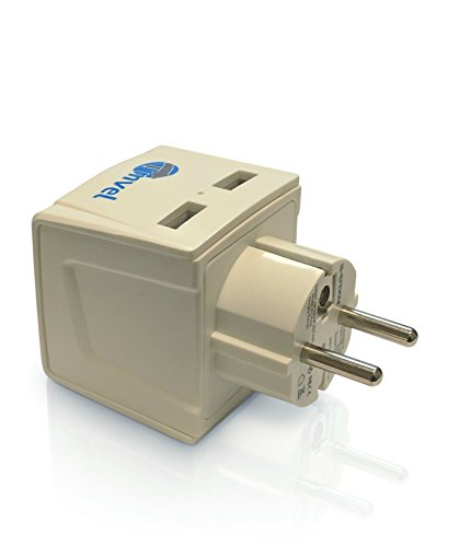 Tmvel Universal Adapter Grounded Germany