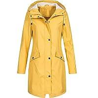 BODOAO Outdoor Rain Jacket for Women Plus Size Waterproof Hooded Raincoat Windproof