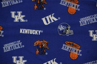 NCAA University of Kentucky Wildcats Team Licensed All Over Cotton Fabric