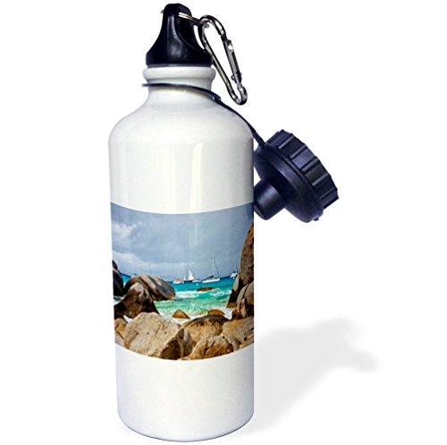 3dRose wb_188566_1 The Baths On Virgin Gorda In The British Virgin Islands Sports Water Bottle, Multicolor, 21 oz