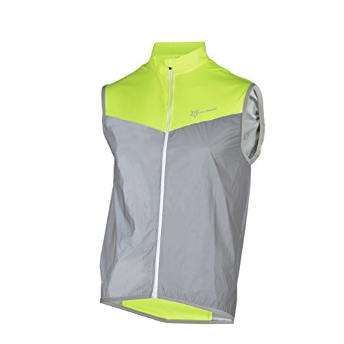 RockBros Reflective Cycling Vest Men Women Safety Vest For Running Jogging Walking - Womens Cycling Vest