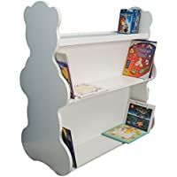 Ace Baby Furniture Bear Mobile Double-Sided Bookcase, White