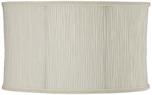- Cream Oval Pleat Lamp Shade 9/17x9/17x10 (Spider)
