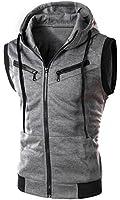 XTX Men's Active Slim Fit Zip Up Front Sleeveless Vest