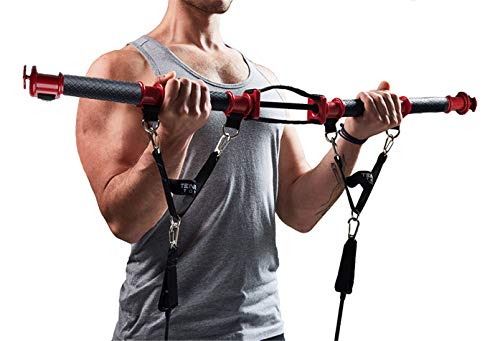 TENSION TONER – Workout Your Muscles with Over 70 Different Full Body Exercises to Build Strength & Muscle Definition – Portable Home Gym – DiZiSports Store