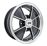 PREMIUM BRM WHEEL, Black With Polished Lip, 5.5'' Wide, 4 on 130mm VW