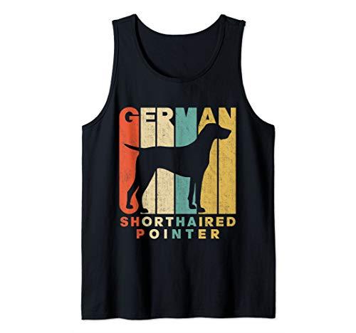 (Vintage Retro German Shorthaired Pointer Silhouette Tank Top)