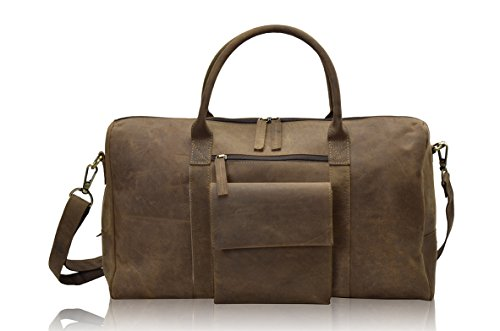 HOLIDAY DEALS !!! TONY'S BAGS - 20 inch Weekender bag Travel bag in Vintage Leather by Tony bags