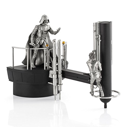 Royal Selangor Hand Finished Star Wars Collection Pewter Limited Edition Luke vs Vader Diorama
