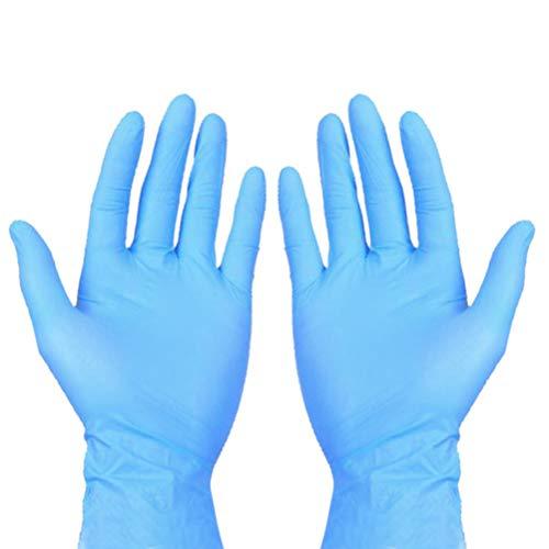 Artibetter 50pcs Disposable Nitrile Gloves Exam Gloves Multipurpose Gloves for Medical Cleaning Working Washing, OPP Bag…