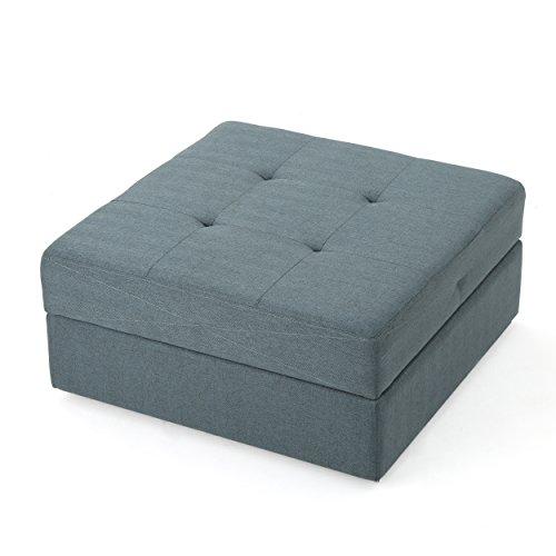 Christopher Knight Home 300766 Living Bache Lift Strut Caster Fabric Storage Ottoman (Steel Blue),